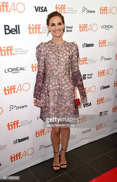 Actress Natalie Portman attends the 4th annual festival kickoff fundraising soiree during the 2015 Toronto International Film Festival at TIFF Bell...