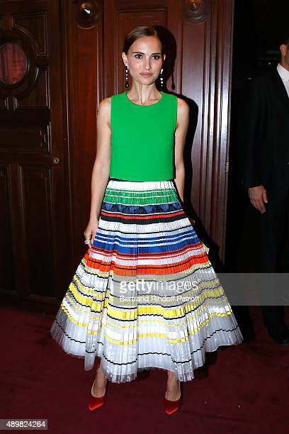 Actress Natalie Portman attends the Ballet National de Paris Opening Season Gala at Opera Garnier on September 24 2015 in Paris France