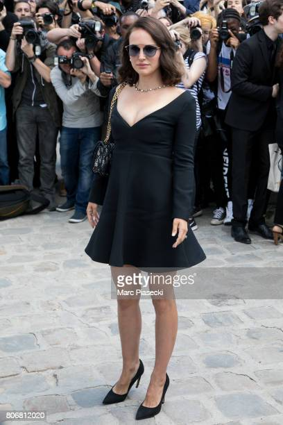 Actress Natalie Portman attends the Christian Dior Haute Couture Fall/Winter 20172018 show as part of Paris Fashion Week on July 3 2017 in Paris...