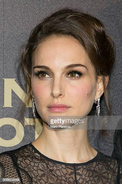 Actress Natalie Portman attends the 'Jane Got A gun' Premiere at Cinema UGC Normandie on January 24 2016 in Paris France