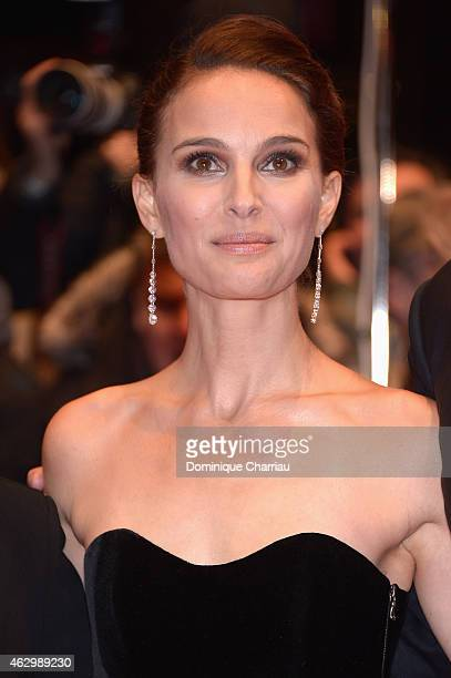 Actress Natalie Portman attends the 'Knight of Cups' premiere during the 65th Berlinale International Film Festival at Berlinale Palace on February 8...