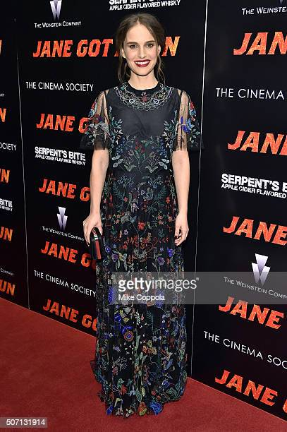 Actress Natalie Portman attends the New York premiere of 'Jane Got A Gun' hosted by The Weinstein Company with the Cinema Society and Serpent's Bite...