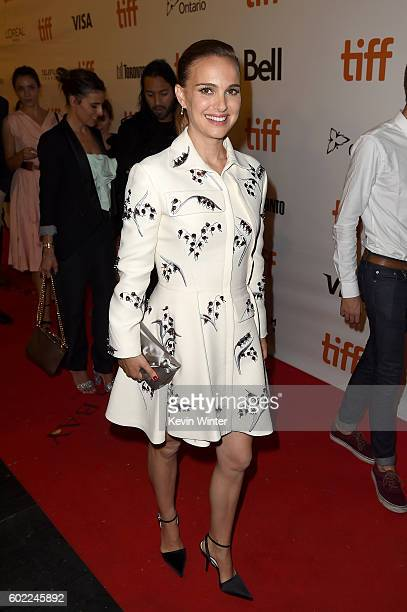 Actress Natalie Portman attends the 'Planetarium' premiere during the 2016 Toronto International Film Festival at Roy Thomson Hall on September 10...