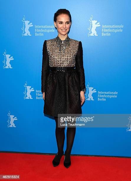 Actress Natalie Portman attends 'The Seventh Fire' premiere and panel discussion during the 65th Berlinale International Film Festival at Haus der...