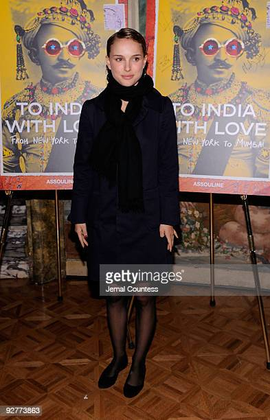 Actress Natalie Portman attends the ''To India With Love From New York To Mumbai'' book launch at The Pierre Hotel on November 4 2009 in New York City