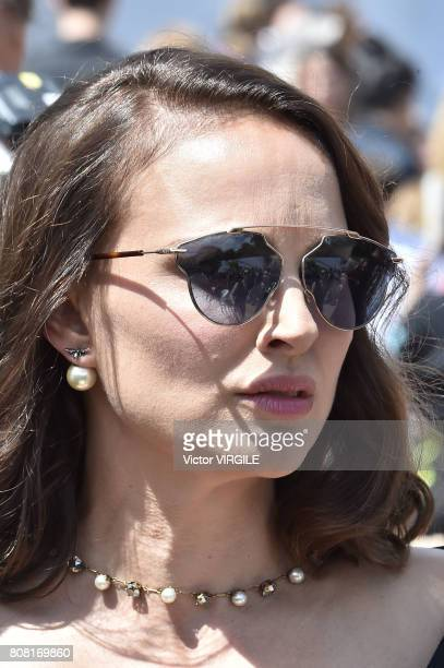Actress Natalie Portman during the Christian Dior Haute Couture Fall/Winter 20172018 show as part of Haute Couture Paris Fashion Week on July 3 2017...