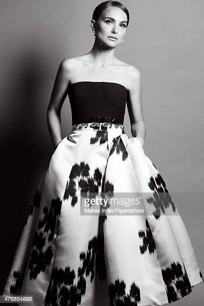 Actress Natalie Portman is photographed for Madame Figaro on May 18 2015 at the Cannes Film Festival in Cannes France Dress Chiocciola earrings...