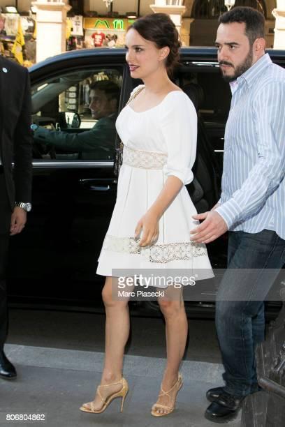 Actress Natalie Portman is seen on July 3 2017 in Paris France