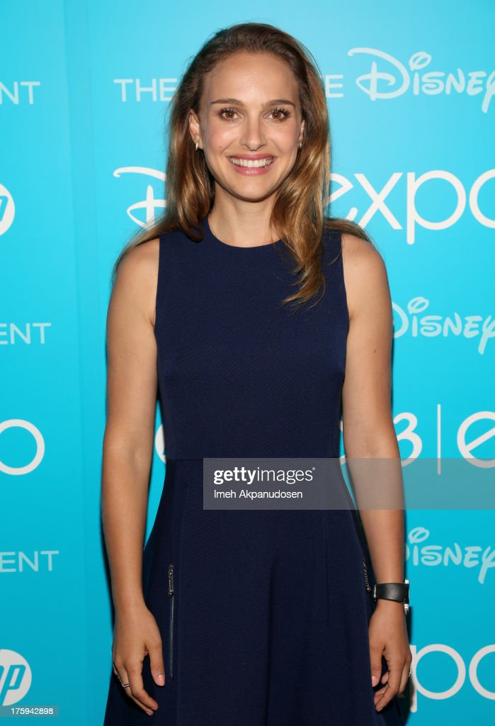 Actress <a gi-track='captionPersonalityLinkClicked' href=/galleries/search?phrase=Natalie+Portman&family=editorial&specificpeople=202035 ng-click='$event.stopPropagation()'>Natalie Portman</a> of 'Thor: The Dark World' attends 'Let the Adventures Begin: Live Action at The Walt Disney Studios' presentation at Disney's D23 Expo held at the Anaheim Convention Center on August 10, 2013 in Anaheim, California.