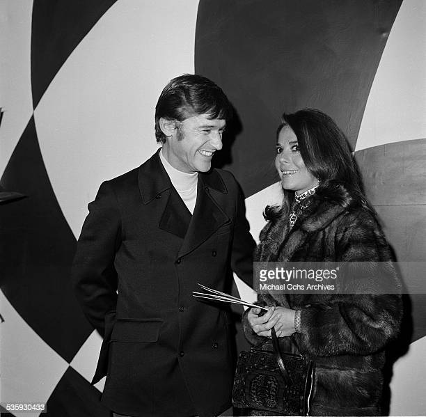 Actress Natalie Wood and actor Roddy McDowall at Premiere Party for 'The President's Analyst' hosted by James Coburn in Los AngelesCA