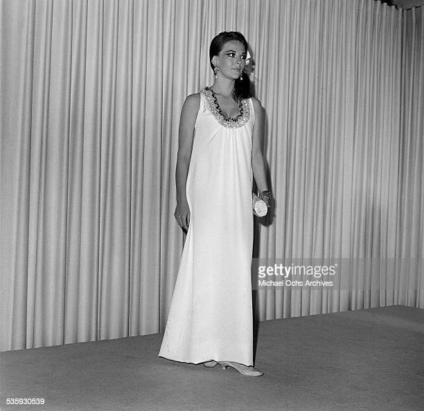 Actress Natalie Wood poses as she attends an event in Los AngelesCA
