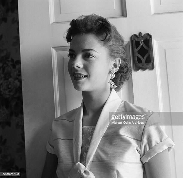 Actress Natalie Wood poses for a portrait at home in Los AngelesCA