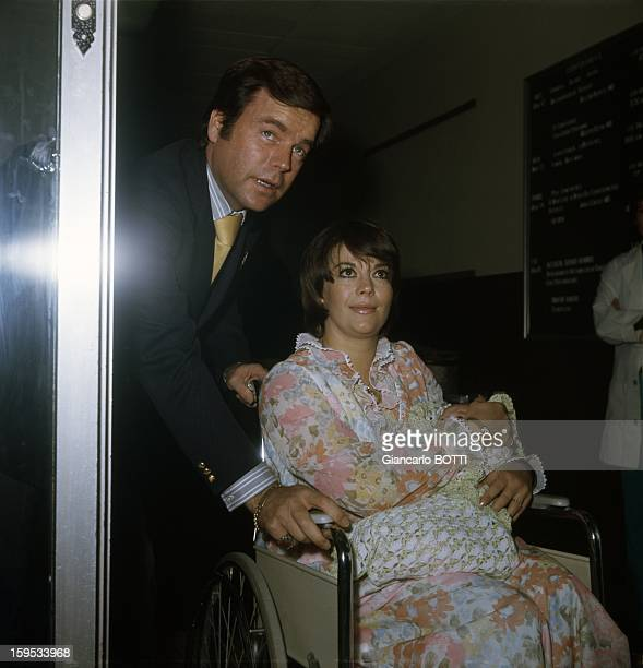 Actress Natalie Wood with her husband Robert Wagner and their daughter Courtney March 16 1974