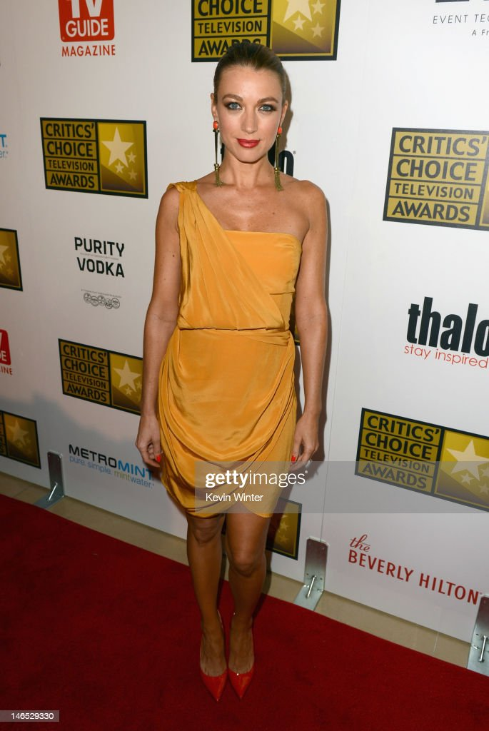 Actress Natalie Zea arrives at Broadcast Television Journalists Association Second Annual Critics' Choice Awards at The Beverly Hilton Hotel on June 18, 2012 in Beverly Hills, California.