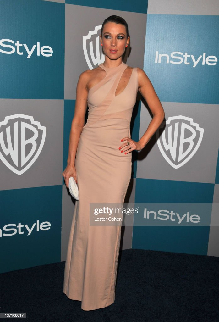 Actress Natalie Zea arrives at the 13th Annual Warner Bros. and InStyle Golden Globe After Party held at The Beverly Hilton hotel on January 15, 2012 in Beverly Hills, California.