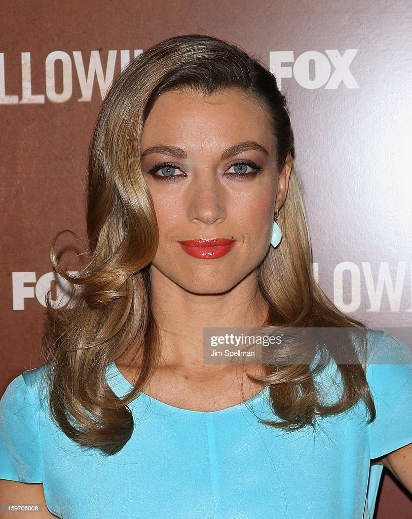 Actress Natalie Zea attends 'The Following' New York Premiere at New York Public Library - Astor Hall on January 18, 2013 in New York City.