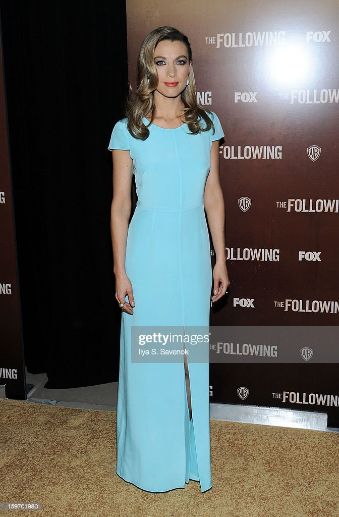 Actress Natalie Zea attends 'The Following' World Premiere at The New York Public Library on January 18, 2013 in New York City.