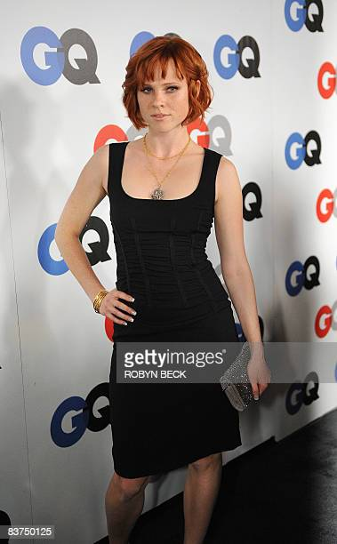 Actress Natalya Rudakova arrives at the GQ Men of the Year party at the Chateau Marmont Hotel on November 18 2008 in Los Angeles California AFP PHOTO...
