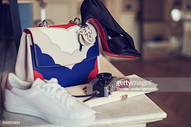 Actress Natasha Andrews is photographed for Madame Figaro on March 14 2016 in Paris France Bag clutch sneaker shoe PUBLISHED IMAGE CREDIT MUST READ...