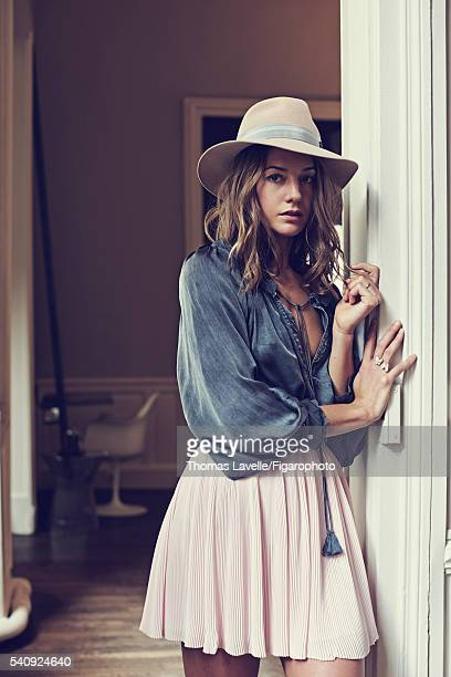Actress Natasha Andrews is photographed for Madame Figaro on March 14 2016 in Paris France Blouse skirt hat necklace CREDIT MUST READ Thomas...