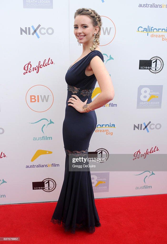 Actress Natasha Bassett arrives at Australians In Film Heath Ledger Scholarship Dinner on June 1 2016 in Beverly Hills California