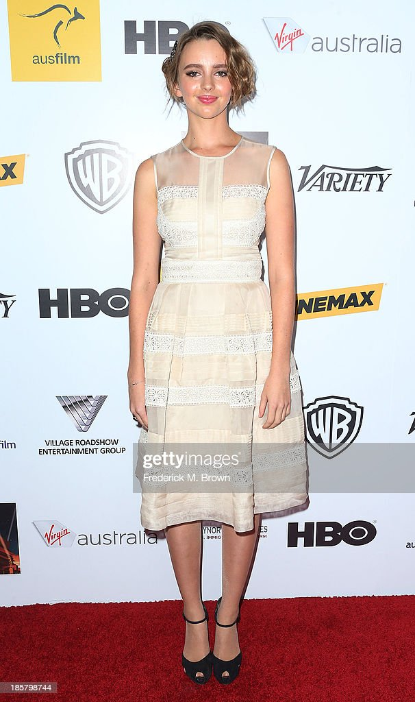 Actress Natasha Bassett attends the Australians in Film Benefit Dinner at the at Intercontinental Hotel on October 24, 2013 in Beverly Hills, California.