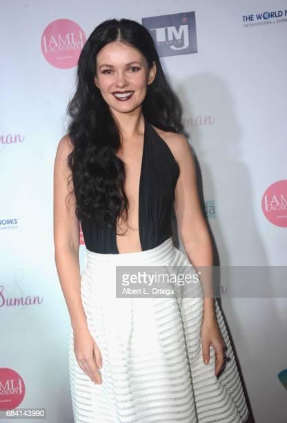 Actress Natasha Blasick at Sai Suman's Official Hollywood Runway Fashion Show held at Sofitel Hotel on April 11 2017 in Los Angeles California
