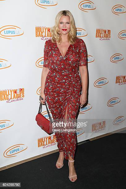 Actress Natasha Henstridge arrives at the 14th Annual Lupus LA Hollywood Bag Ladies Luncheon at The Beverly Hilton Hotel on November 18 2016 in...