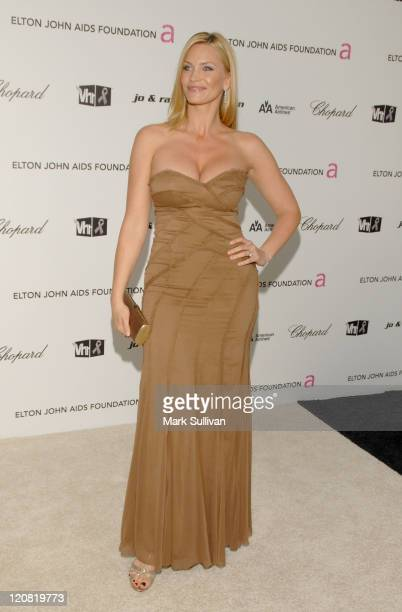 Actress Natasha Henstridge arrives at the 17th Annual Elton John AIDS Foundation's Academy Award Viewing Party held at the Pacific Design Center on...