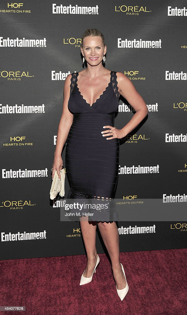 Actress Natasha Henstridge attends Entertainment Weekly's Pre-Emmy Party at Fig & Olive on Melrose Place on August 23, 2014 in West Hollywood, California.