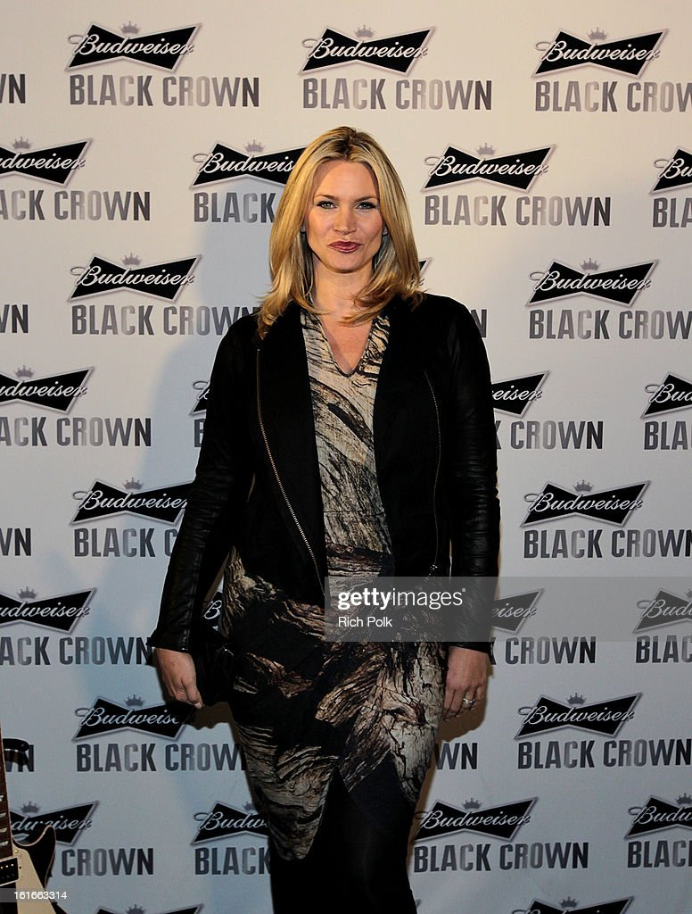 Actress Natasha Henstridge attends the Budweiser Black Crown Launch Party at gibson/baldwin showroom on February 13, 2013 in Los Angeles, California.