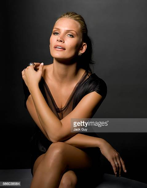 Actress Natasha Henstridge is photographed for Atlanta Peach in 2008 in Los Angeles California PUBLISHED IMAGE