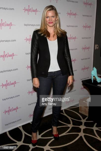 Actress Natasha Henstridge poses with Mary Kay at Kari Feinstein's PreGolden Globes Style Lounge at the W Hollywood on January 11 2013 in Hollywood...
