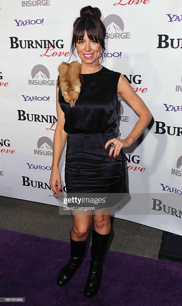 Actress Natasha Leggero attends the premiere of 'Burning Love' Season 2 at the Paramount Theater on the Paramount Studios lot on February 5, 2013 in Hollywood, California.