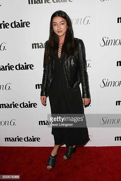 Actress Natasha Liu Bordizzo arrives at the Marie Claire Fresh Faces Party at the Sunset Tower Hotel on April 11 2016 in West Hollywood California