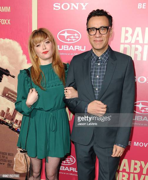 Actress Natasha Lyonne and actor Fred Armisen attend the premiere of 'Baby Driver' at Ace Hotel on June 14 2017 in Los Angeles California