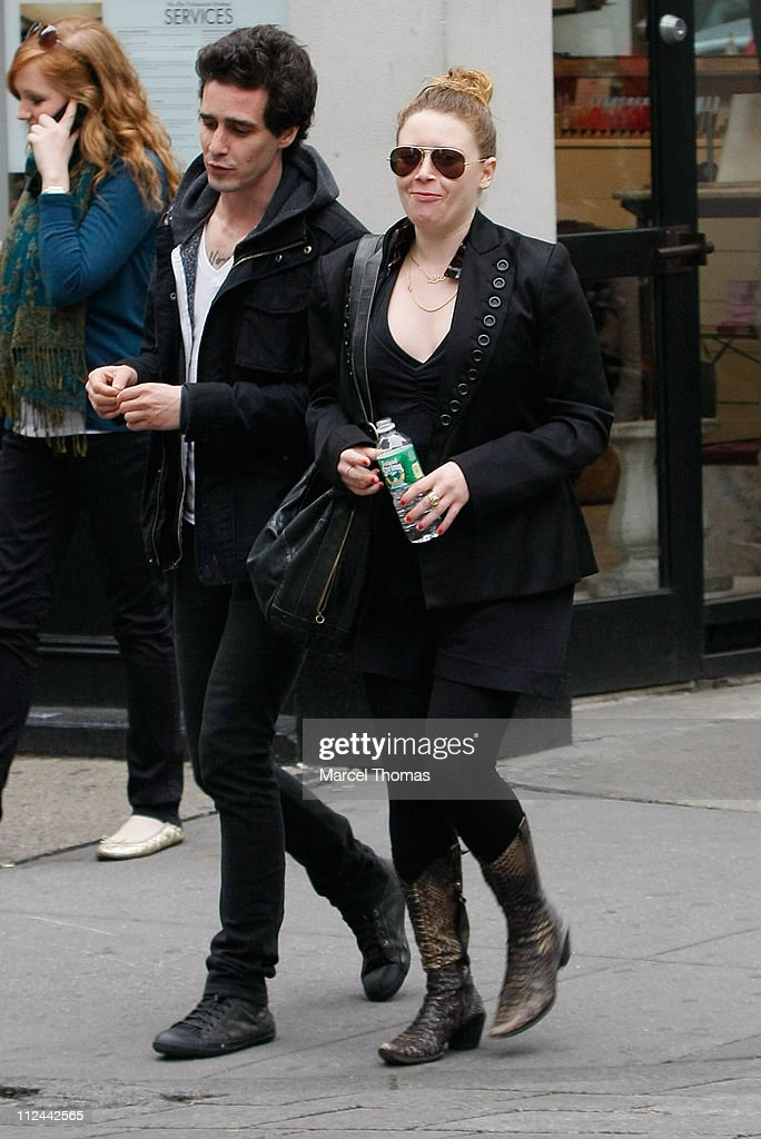 Actress Natasha Lyonne and friend walk in SoHo April 27 2008 in New York City