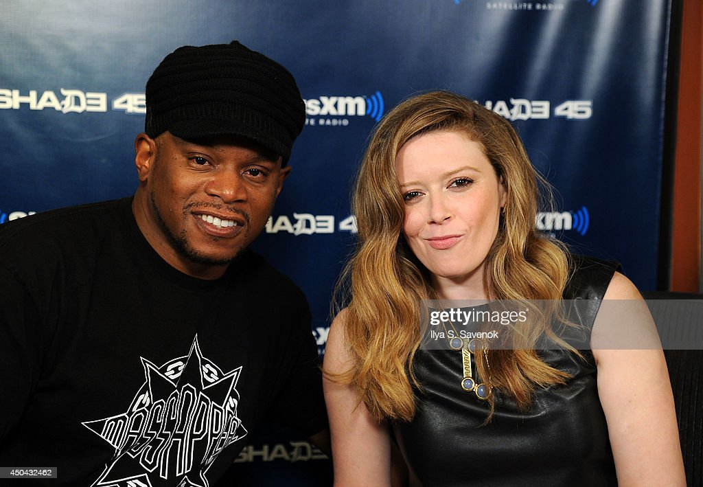 Actress Natasha Lyonne and Sway visit 'Sway In The Morning' on Shade 45 at the SiriusXM Studios on June 11, 2014 in New York City.
