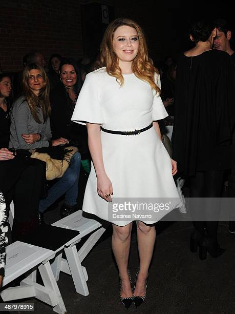Actress Natasha Lyonne attends the Christian Siriano show during MercedesBenz Fashion Week Fall 2014 at Eyebeam Atelier on February 8 2014 in New...