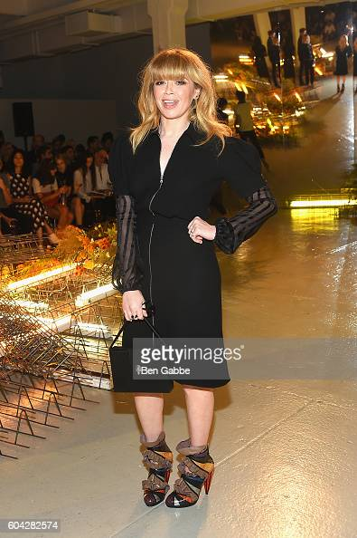 Actress Natasha Lyonne attends the Rodarte fashion show during New York Fashion Week September 2016 at Center 548 on September 13 2016 in New York...