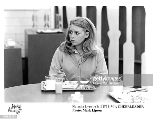 Actress Natasha Lyonne on set of the movie 'But I'm a Cheerleader ' circa 1999