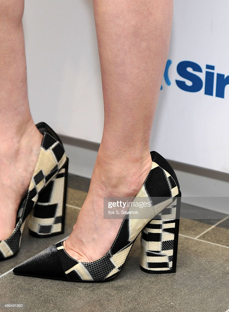 Actress Natasha Lyonne (shoe detail) visits the SiriusXM Studios on June 11, 2014 in New York City.