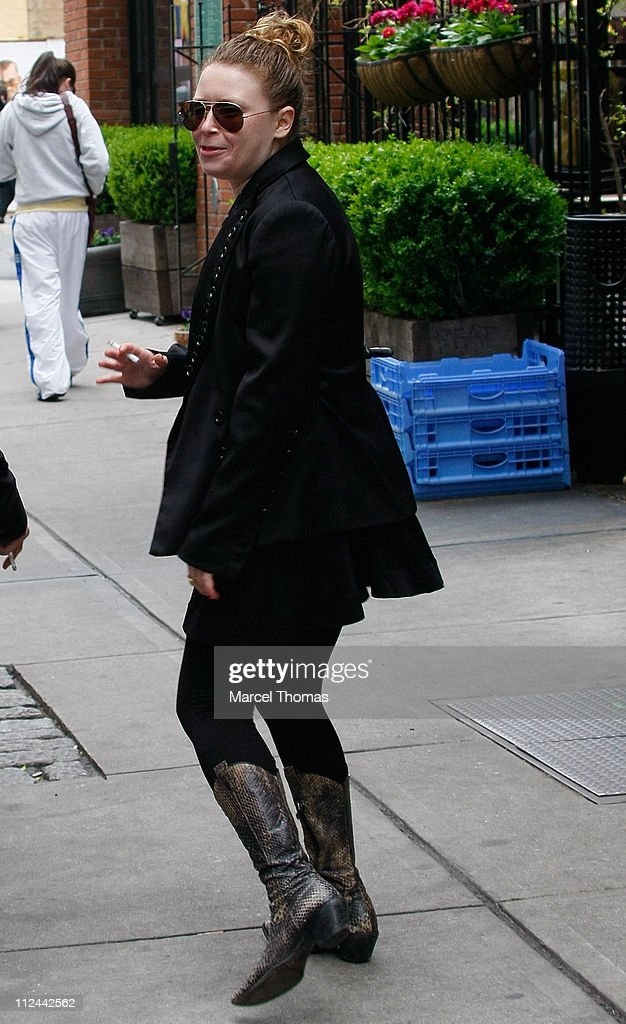 Actress Natasha Lyonne walks in SoHo April 27 2008 in New York City