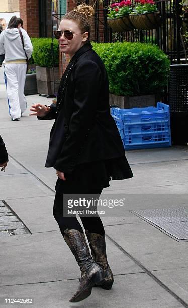 Actress Natasha Lyonne walks in SoHo April 27 2008 in New York City