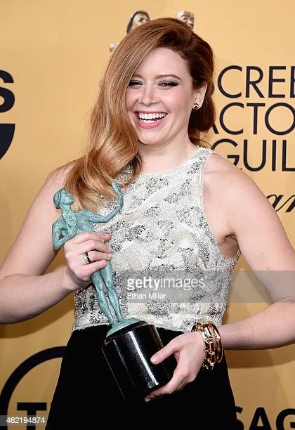 Actress Natasha Lyonne winner of Outstanding Performance by an Ensemble in a Comedy Series for 'Orange Is the New Black' poses in the press room at...