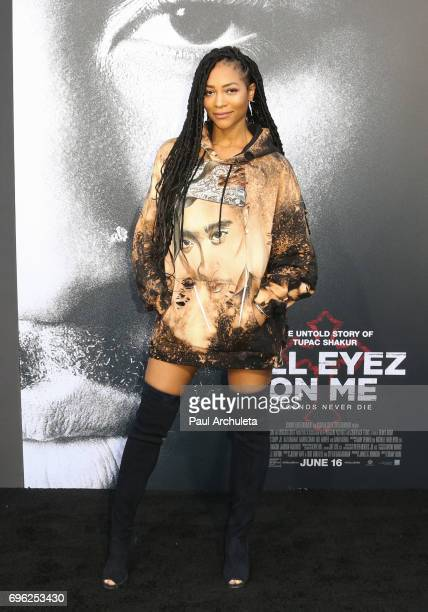 Actress Natasha Marc attends the premiere of Lionsgate's 'All Eyez On Me' on June 14 2017 in Los Angeles California