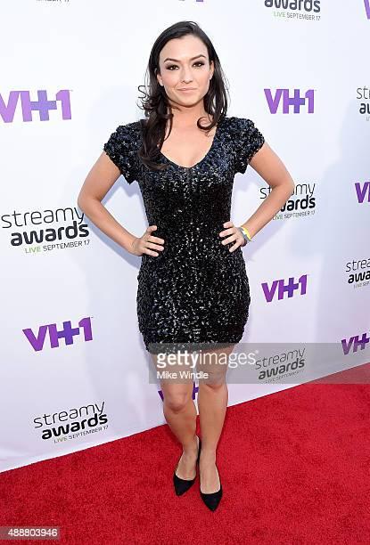 Actress Natasha Negovanlis attends VH1's 5th Annual Streamy Awards at the Hollywood Palladium on Thursday September 17 2015 in Los Angeles California