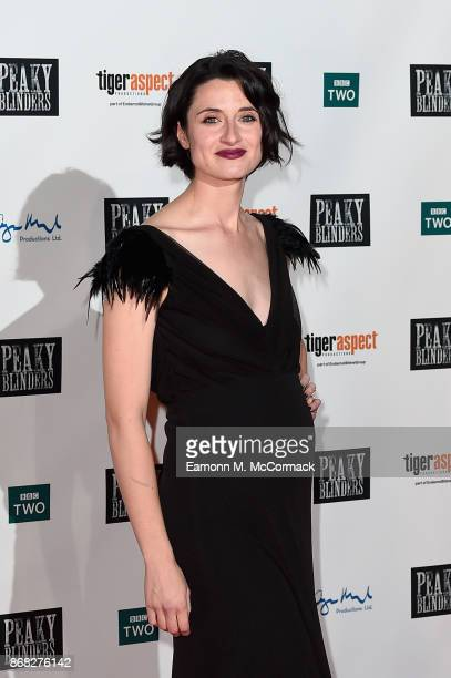 Actress Natasha O'Keeffe attends the Birmingham Premiere of Peaky Blinders at cineworld on October 30 2017 in Birmingham England