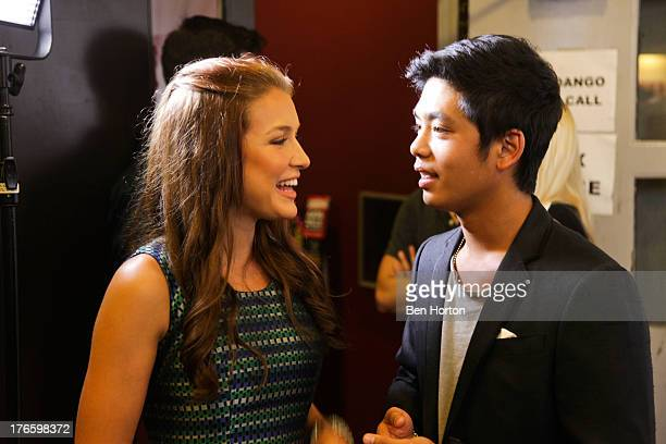 Actress Nathalia Ramos and guest attends the premiere of 'Dean Slater Resident Advisor' at Aero Theatre on August 15 2013 in Santa Monica California