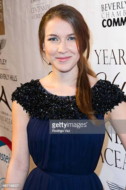 Actress Nathalia Ramos attends the Beverly Hills Chamber of Commerce hosting EXPERIENCE East Meets West event at Crustacean on February 5 2014 in...